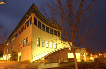 Lyndon State College Library at Night